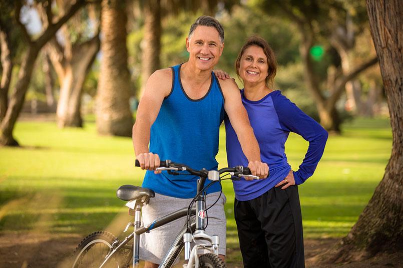 Senior fit couple